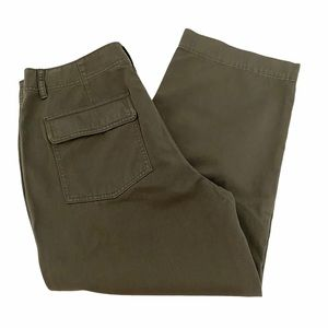Vince Cotton Utility Pants Dark Green size 14